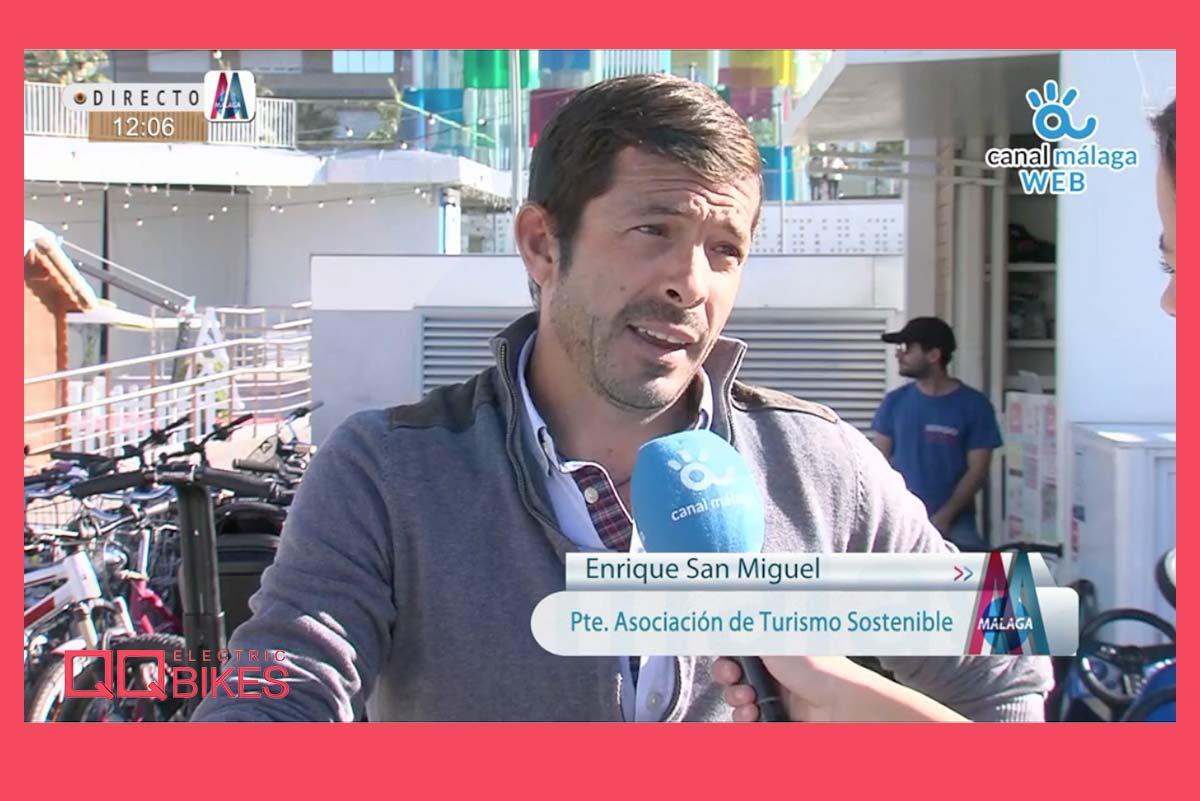 Entrevista a Enrique San Miguel, presidente de la Asociación Malagueña de Empresarios de Turismo de Movilidad Sostenible