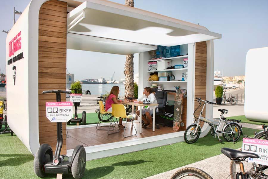 El Kiosco de QQ Bikes en el Centro Comercial Muelle Uno