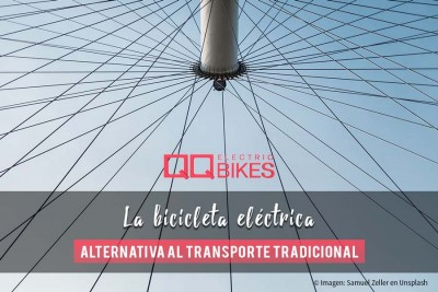 Bicicleta eléctrica, una buena alternativa al transporte tradicional. The electric bike, a good alternative to traditional transport