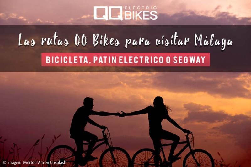 Las rutas de QQ Bikes para visitar Málaga. The QQ Bikes Routes to visit Malaga